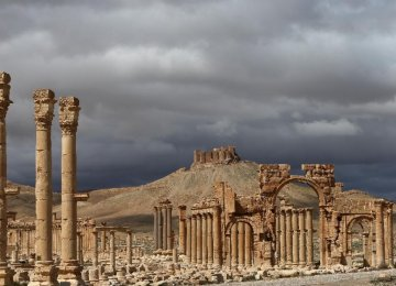 IS Blows Up Columns in Syria's Palmyra