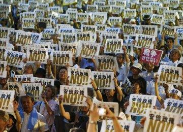 Majority of Japanese Oppose Security Bills