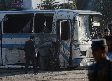 9 Policemen Killed in Kabul Bombings