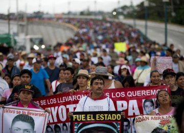 Anniv. of Mexican Missing Students