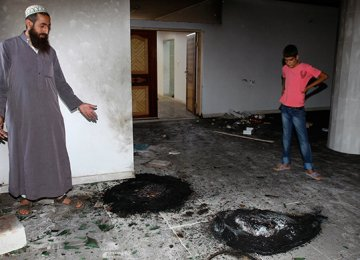 Israeli Settlers Torch West Bank Mosque