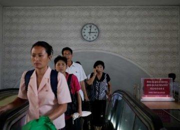 N. Korea Initiates Pyongyang Time
