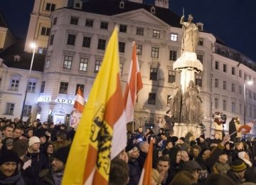 PEGIDA demo  in Austria
