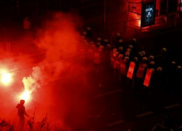 Polish Police Clash With Rioters