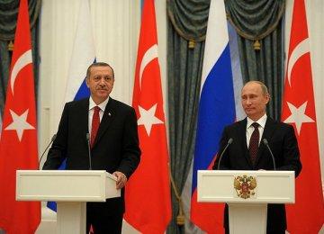 Putin in turkey to Boost Energy Ties