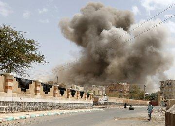 Saudi-led Coalition Bombs Houthis