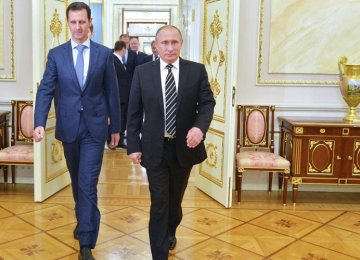 Assad Talks of Political  Moves in Moscow Visit
