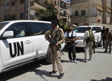 UN Talks of  New Syria Peace Plan