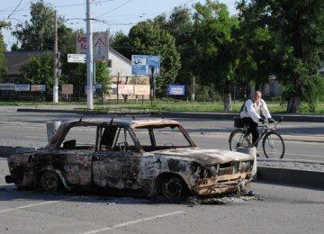Day of Silence in E Ukraine