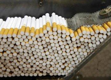 Cigarette Production Down 30%
