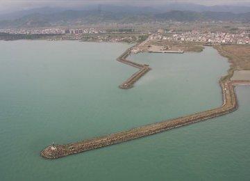 Russian Ship Docks at Astara