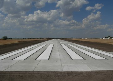 First All-Concrete Runway