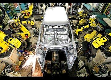 Car Production Grows 72%