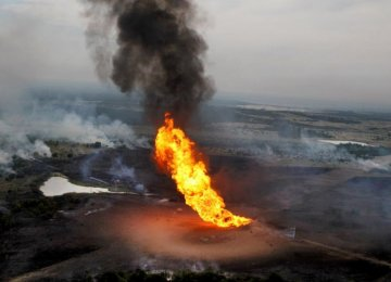 Oil Pipeline Explosion in Nigeria Kills 12