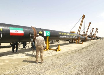 Tehran Not to Penalize for IP Pipeline Delay