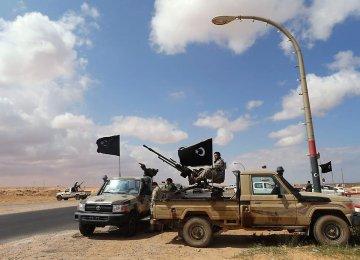 Libyan Oil Tanks Ablaze