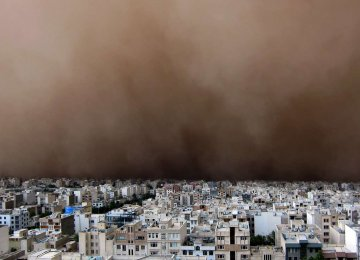 Tehran Facing Major Natural Threats