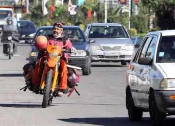 Birjandi Motorcyclist Raises Awareness on Land Mines