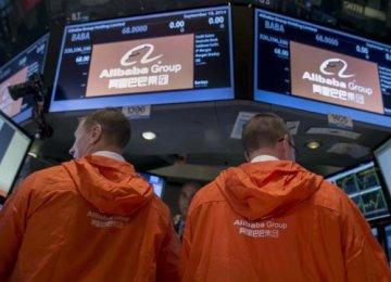 Alibaba on China-50 Index