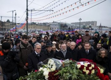 Thousands Rally in Moscow for Nemtsov
