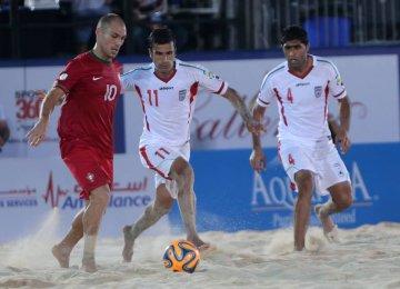 Iranian Beach Footballer  in 'Team of the Tournament'