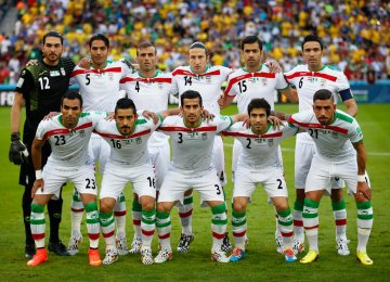 Iran Moves Up 10 Places in FIFA Ranking