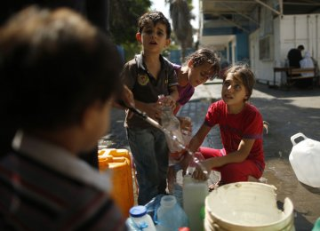 Gaza Water Undrinkable, Running Out