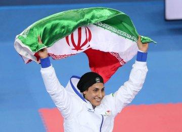 Iranian Woman Karateka in KWC Final