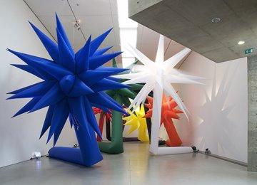 Otto Piene's Artworks at Tehran Museum