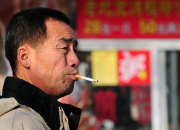 Smoking Set to Kill 1 in 3 Young Men in China