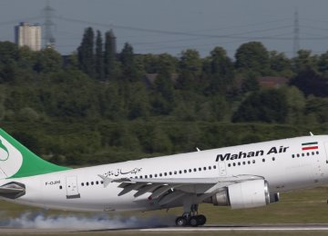 Mahan Air Flight to Moscow