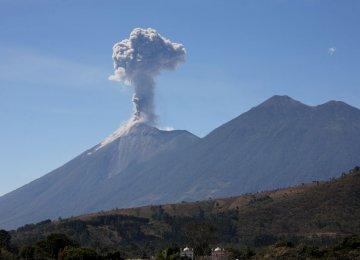 Fuego Volcano in Guatemala Increases Activity