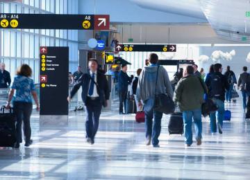 Rise in Int'l Air Passengers