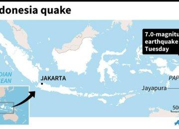7-Magnitude Quake Jolts Indonesia