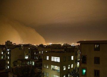 Dust Storms Thrash Tehran, Alborz