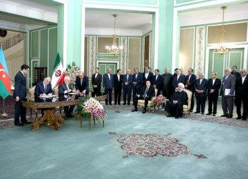 Iran, Azerbaijan Sign  11 Deals to Boost Ties