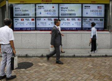 Chinese, Japanese Stocks Fall Again