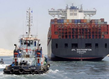 First Ships Cross New Suez Canal in Test-Run