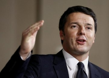 Renzi: 'Italy on the Mend With Money to Spend'