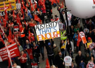Thousands of Brits Protest Government's Austerity Plan