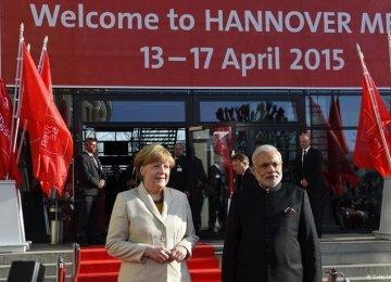 Modi, Merkel Seek Closer Trade Ties