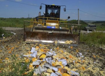 Russia Bulldozes Illegally Imported Food