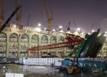 107  Pilgrims Die in Crane  Crash at Mecca Grand Mosque