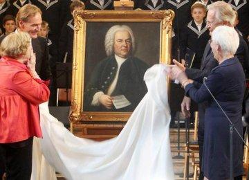 Bach Portrait Unveiled in Leipzig