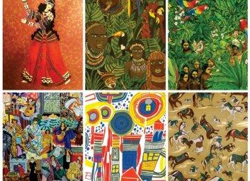 Iranian Motifs on Fabric