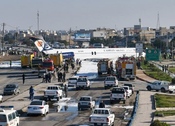 Airliner Crash-Lands Into Highway in Mahshahr