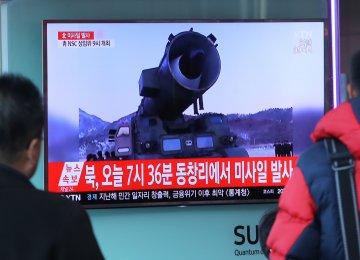 N. Korea Fires Missiles, 3 Reach Japan Waters