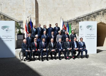 Finance ministers and central bank governors from the US, Canada, Japan, France, Germany, Italy and Britain met in the Italian city of Bari.