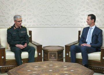 Top General Meets Syria's Assad