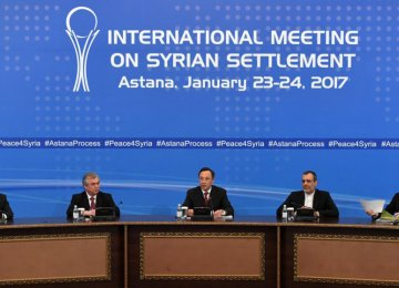 Astana Talks on Syria Postponed